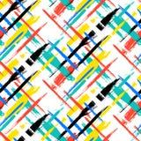 Muster mit Streifen und Kreuzen Stockbild