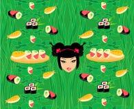 Muster mit Sushi Stockbild