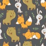Muster mit Tieren Stockfotos