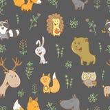 Muster mit Tieren Stockbilder