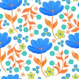 Muster mit Tulpen lizenzfreie stockfotografie