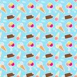 Muster mit unterschiedlicher Eiscreme Stockbild
