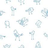 Muster mit Vögeln Lizenzfreie Stockfotografie
