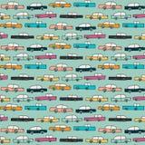Muster mit Vektorautos Lizenzfreies Stockfoto