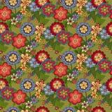 Muster mit verschiedenen Blumen Stockbild