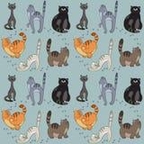 Muster mit verschiedenen Katzen Lizenzfreies Stockbild