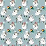 Muster mit verschiedenen Schafen Lizenzfreies Stockfoto