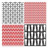 Muster mit verschiedenen Vektorhäschen Stockbilder