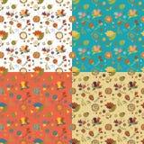 Muster mit vier Farben Stockfotos