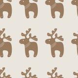 Muster mit Weihnachtsrenplätzchen Lizenzfreies Stockbild