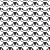Muster mit Wellen stock abbildung