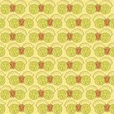 Muster mit Zitronen und Zitronenscheiben Lizenzfreies Stockbild