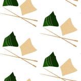 Muster mit zongzi und hasi Lizenzfreies Stockfoto