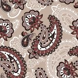 Muster-Monochromart der türkischen Gurke nahtlose Stockbild
