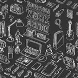 Muster nahtlos vom Bildungsarbeitsplatz Stockfoto