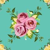Muster-nahtlose Blumenweinleseart Stockfotografie