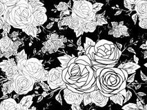 Muster-nahtlose Hand gezeichnet Stockbilder