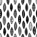 Muster nahtlose Ornamentalblätter Stockbild