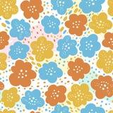 Muster-nahtloser Vektor-Blumenbetriebssatz Abstrakte einfache natürliche Botanik Gezeichnete Art des Schattenbildes Hand Moderne  stock abbildung