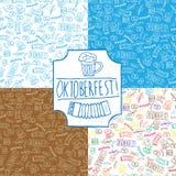 Muster Oktoberfest-Satz Stockfoto