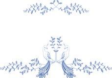 Muster Paradiesvögel sitzend auf einer Niederlassung Stockfotografie