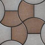 Muster-Pflasterung in Form eines Paralleltrapezes Stockfotografie