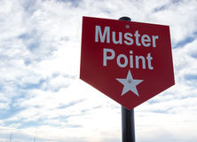 Muster Point sign. For assembly during an emergency Royalty Free Stock Photography
