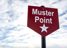 Muster Point sign. For assembly during an emergency Royalty Free Stock Photos