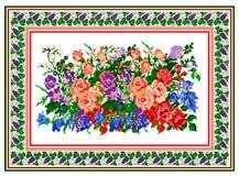 Muster, populäres Motiv, regelmäßiges Motiv, Tischdecke, Bild Stockfoto