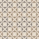 Muster quadriert die Shamrocks, grau-beige Lizenzfreie Stockbilder