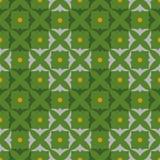 Muster quadriert Shamrocks, Grün Stockbilder