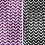 Muster-Retro- Zickzackchevron-Vektor Stockbild