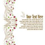Muster 08 Schablone für Einladung oder Postkarte Lizenzfreie Stockfotos