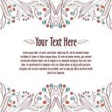 Muster 08 Schablone für Einladung oder Postkarte Lizenzfreies Stockfoto
