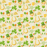 Muster St Patricks Tages Lizenzfreie Stockfotos
