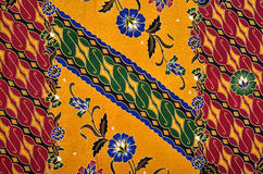 Muster-und Batik-Gewebe Stockbilder
