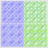 4 Muster und Fliesengestaltungselemente Vektor Abbildung