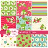 Muster und Hintergründe - Erdbeere Lizenzfreie Stockfotografie