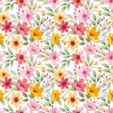 Muster-Vektordesign der bunten Blumen nahtloses vektor abbildung