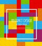 Muster-Vektorillustration des Blockes nahtlose Stockbild