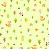 Muster-Vektorillustration des Igelfuchses nahtlose Lizenzfreie Stockfotos