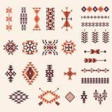 Muster-Vektorsatz des Navajos des amerikanischen Ureinwohners aztekischer Lizenzfreie Stockfotografie