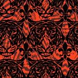 Muster vom Kopf eines Tigers Stockfotografie