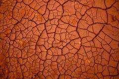 Muster vom trockenen gebrochenen Boden im Sonnenlicht Lizenzfreies Stockfoto