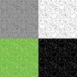 Muster von Äpfeln auf einem bunten Hintergrund lizenzfreie abbildung
