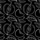 Muster von Äpfeln auf einem schwarzen Hintergrund stock abbildung