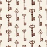 Muster von alten Schlüsseln Lizenzfreie Stockbilder