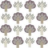 Muster von Bäumen Stockfotografie