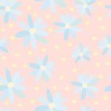Muster von blauen Gänseblümchen 2 lizenzfreie abbildung