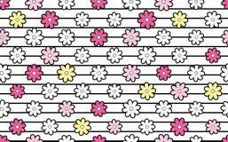 Muster von Blumen. Stockbild